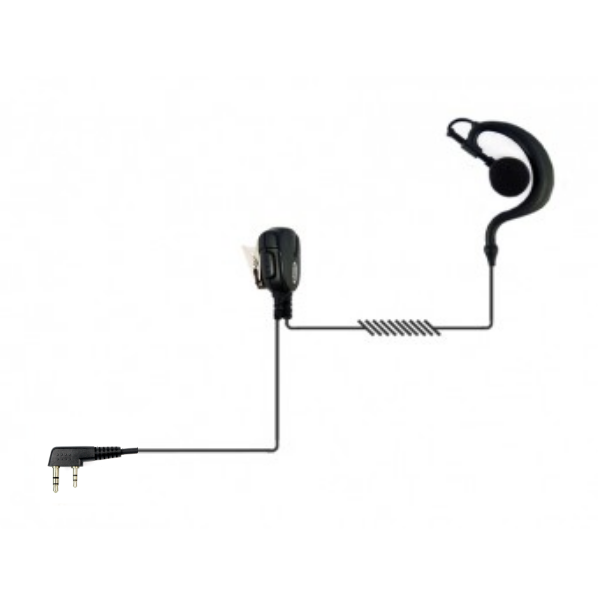 G-Shaped Earpiece with PTT for 2-Pin Motorola