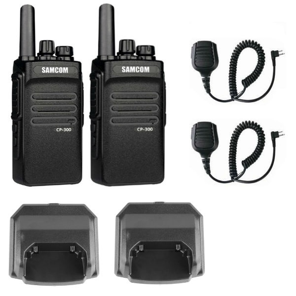 iPTT CP300 Twin Pack with Chargers and Microphones