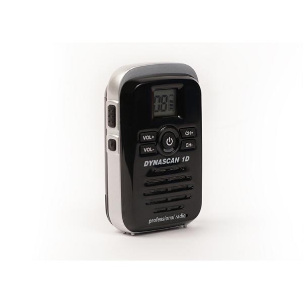 Dynascan 1D PMR446 Walkie Talkie + G-Shaped Earpiece (2)