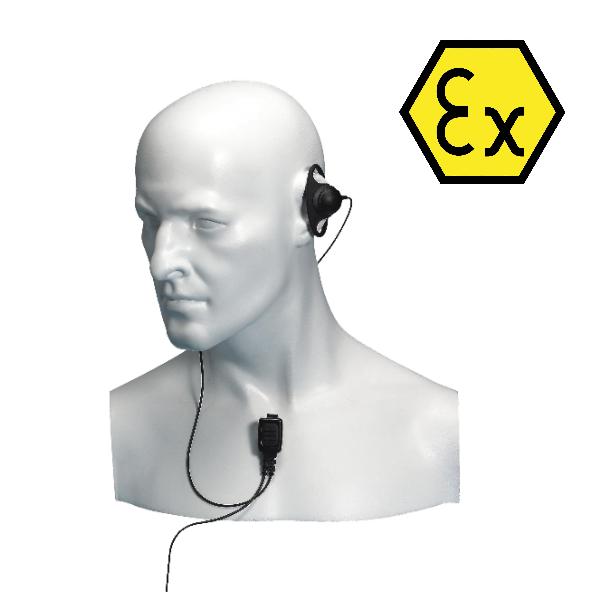 Entel ATEX Approved D-Shape Earpiece
