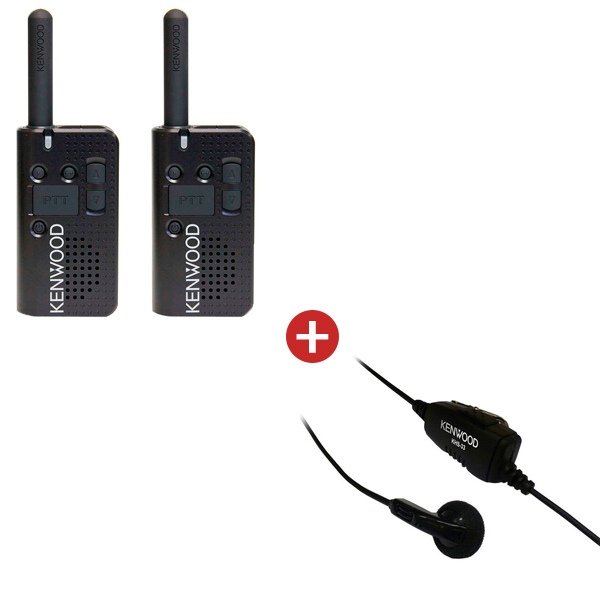 Kenwood PKT-23 Twin Pack + KHS-33 Ear Buds