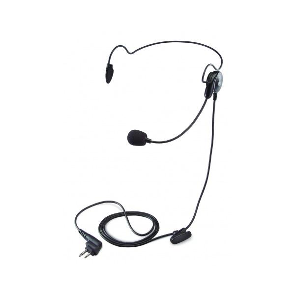 Lightweight single earpiece headset with in-line IPTT