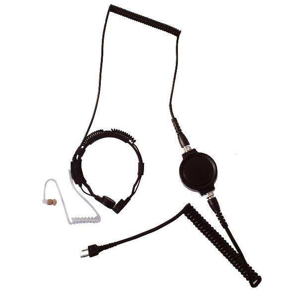 Throat Mic for Motorola 1-Pin Radios