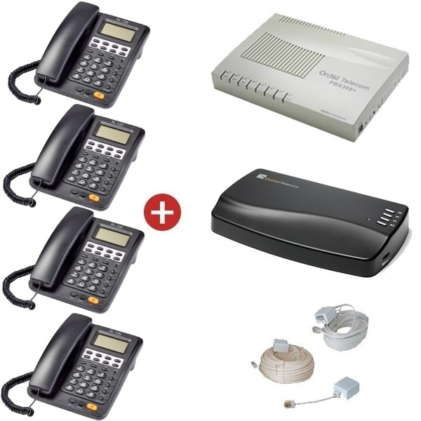 Orchid Telecom PBX 308+ Starter Pack + Orchid MOH1 Music on Hold Unit