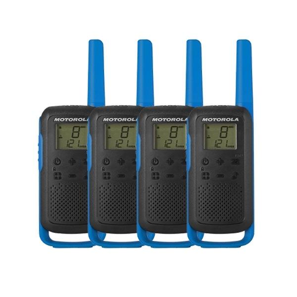 Motorola Talkabout T62 (Blue) Quad Pack