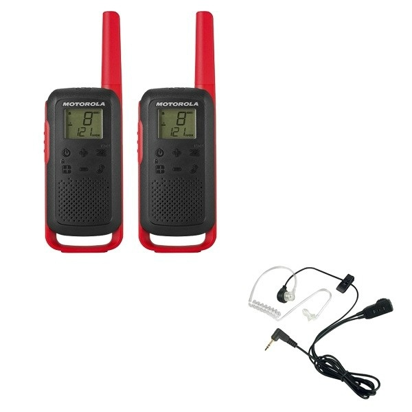 Motorola Talkabout T62 (Red) Twin Pack + Bodyguard Kits