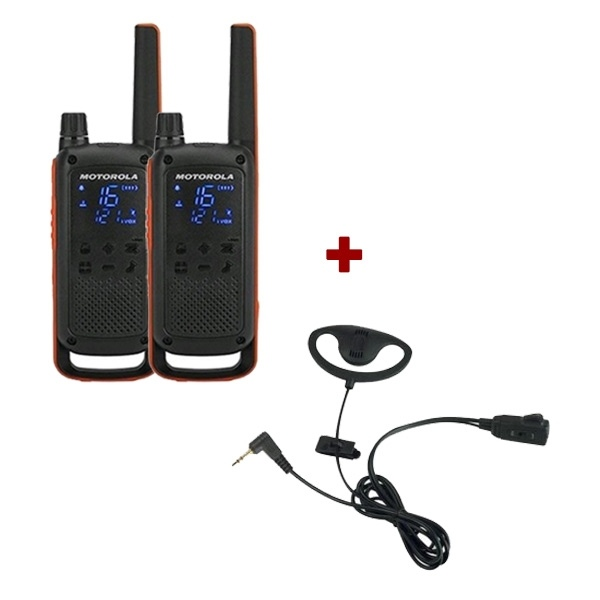 Motorola T82 Twin Pack + D Shaped Ear Pieces