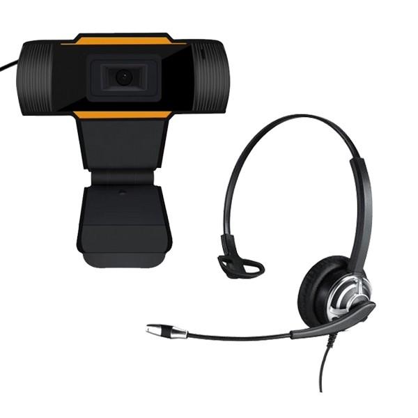 Homeworking Bundle: MRD-805UC headset + USB webcam