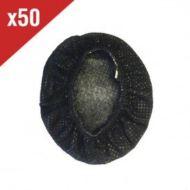 50 Hygienic Cotton Headset Covers - Black