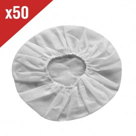 50 Hygienic Cotton Headset Covers - White