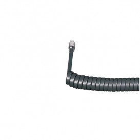 Coiled Telephone Handset Cord (Graphite)