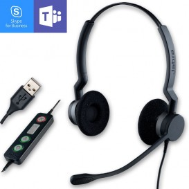 Jabra BIZ 2300 USB Duo MS Lync Corded PC Headset