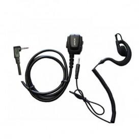 One pin ergonomic micro earphone + ear hook for Motorola