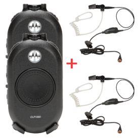 Motorola CLP 446 Twin Pack + 2x security headsets