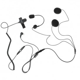 Open Face Helmet Mic for 2-Pin Motorola Radios