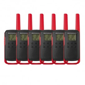 Motorola Talkabout T62 (Red) Six Pack