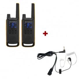 Motorola T82 Extreme Twin Pack + Bodyguard Kits