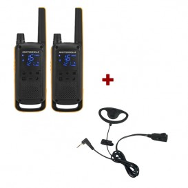 Motorola T82 Extreme Twin Pack + D Shaped Ear Pieces