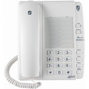 Alphacom a100 Analogue Telephone (White)
