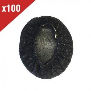 100 Hygienic Cotton Headset Covers (Black)