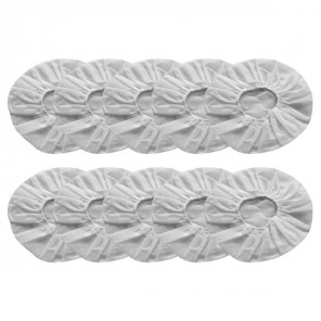 10 Hygienic Cotton Headset Covers - White