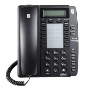 Alphacom a300 Analogue Telephone (Black)