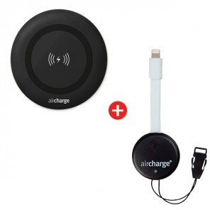 Aircharge Wireless Charging Pad + Qi Enabler
