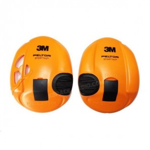 3M helmet Peltor SportTac replacement shells - Orange