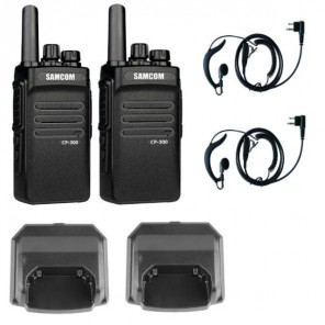 iPTT CP300 Twin Pack with Earpieces and Chargers