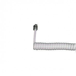 Coiled Telephone Handset Cord (White)