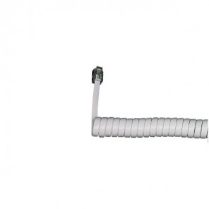 Coiled Telephone Handset Cord 5m (White)