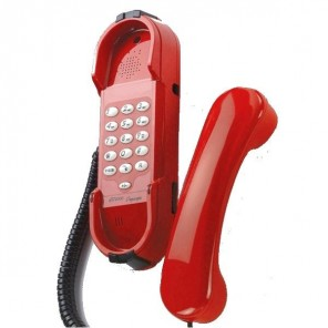 Depaepe HD2000 Emergency Telephone with Keypad (Red)