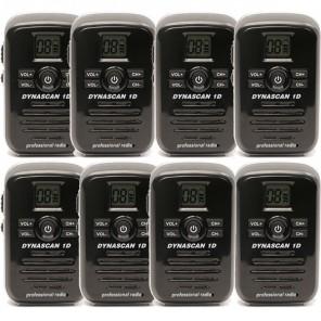 Dynascan 1D walkie-talkie 8-pack (black)