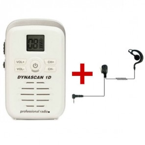 Dynascan 1D Walkie-Talkie + G-Shaped Earpiece