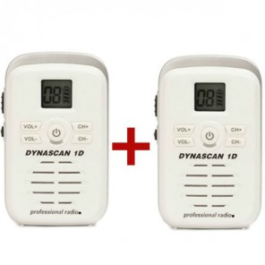 Two Dynascan 1D White PMR446 Walkie-Talkies (1)