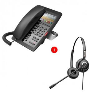 Fanvil H5 deskphone + Fanvil HT202 Headset Bundle