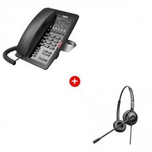 Fanvil H3 Deskphone + Fanvil HT202 Headset Pack