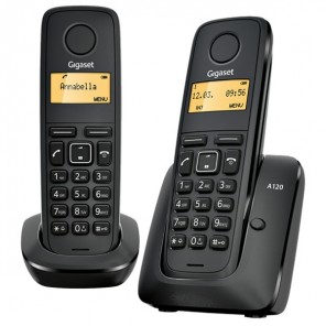 Gigaset A120 ECO DECT Cordless Phone Twin Pack OPEN BOX