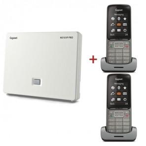 Gigaset N510 IP Pro DECT Base Station + 2 SL750H Pro DECT Handsets