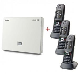 Gigaset N510 IP Pro DECT Base Station + 3 R650H Pro DECT Handsets