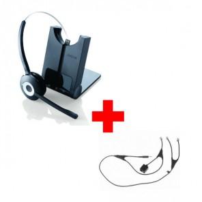 Jabra PRO 920 Cordless Headset + Jabra EHS Adapter for Alcatel Phones