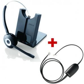 Jabra PRO 920 Cordless Headset + Jabra GN Netcom Electronic Hook Switch - Avaya AV1