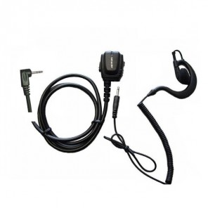 One pin ergonomic micro earphone + ear hook for Motorola