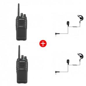 Kenwood TK-3701DE + Ear Hook Kit - Twin Pack