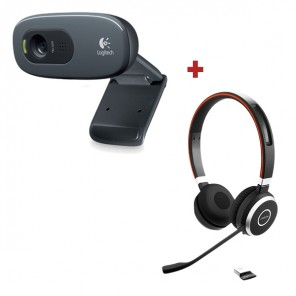 Pack Logitech C270 with Jabra Evolve 65 UC