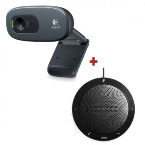 Pack Webcam Logitech C270 + Jabra SPEAK 410