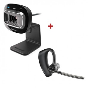 Pack Microsoft Lifecam HD-3000 with Plantronics Voyager Legend