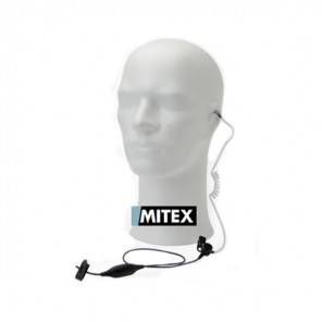 Mitex 1 Wire Acoustic Earpiece with Inline PTT