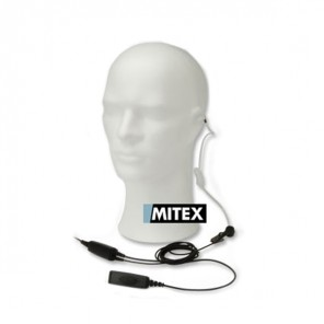 Mitex 2 Wire Acoustic Earpiece with inline PTT
