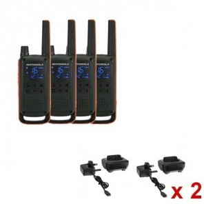 Pack of 4 Motorola TLKR T82 + 4 Charging Cradles
